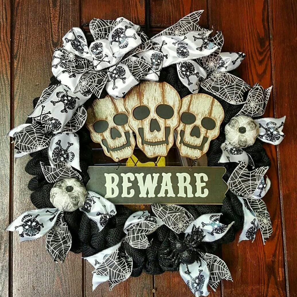 Burlap Home Decor Ideas 18 Spooky Handmade Halloween Wreath Designs For Your Front