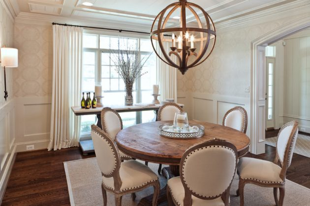 admirable dining room designs with wooden circular tables