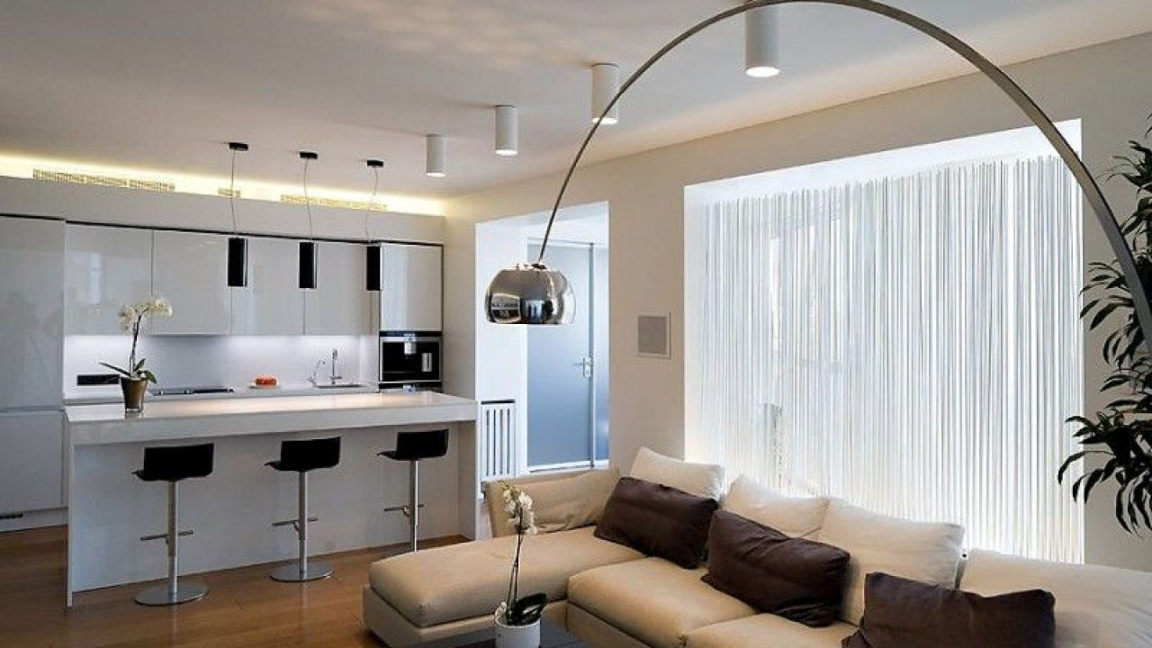 18 Functional Ideas To Design Living Room With Kitchen Properly