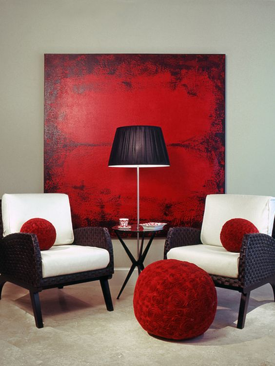 18 Outstanding Interior Designs With Red Details To Break The Monotony