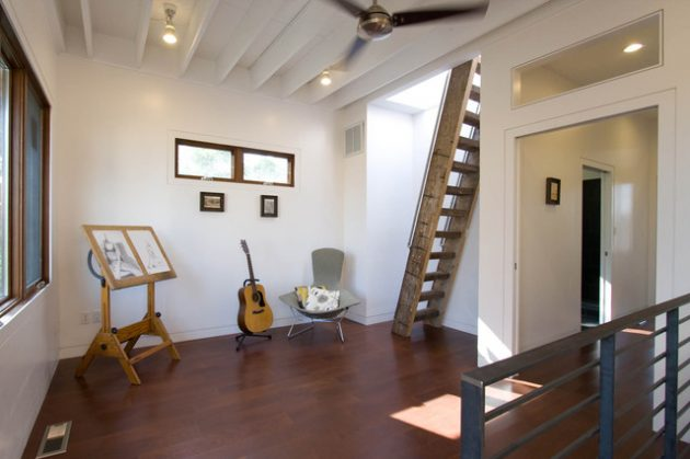 18 Interesting Options For Designing Stairs For The Attic