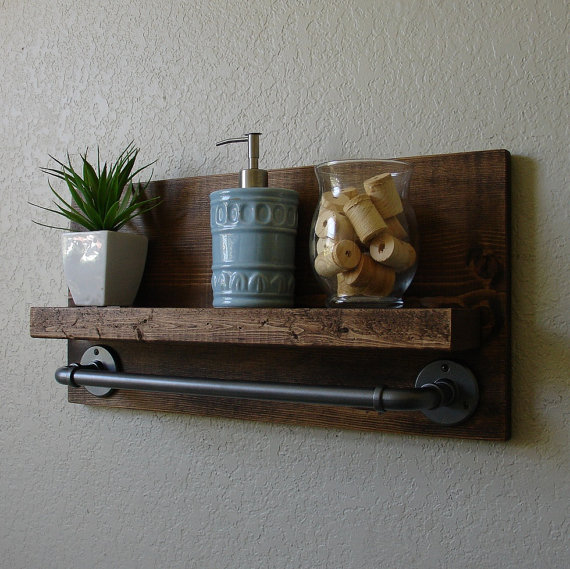 Diy Shelves For Small Bathrooms: 17 DIY Wooden Bathroom Shelves That You Can Make Just In