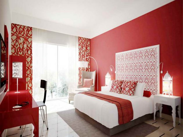 15 Spectacular Red Bedroom Designs For More Dramatic ...