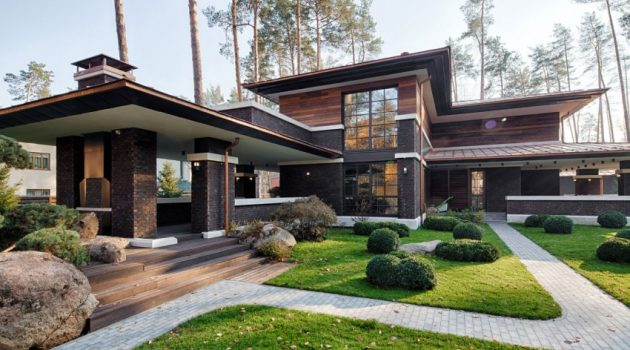 A Contemporary Prairie House by Yunakov Architecture in Kiev, Ukraine