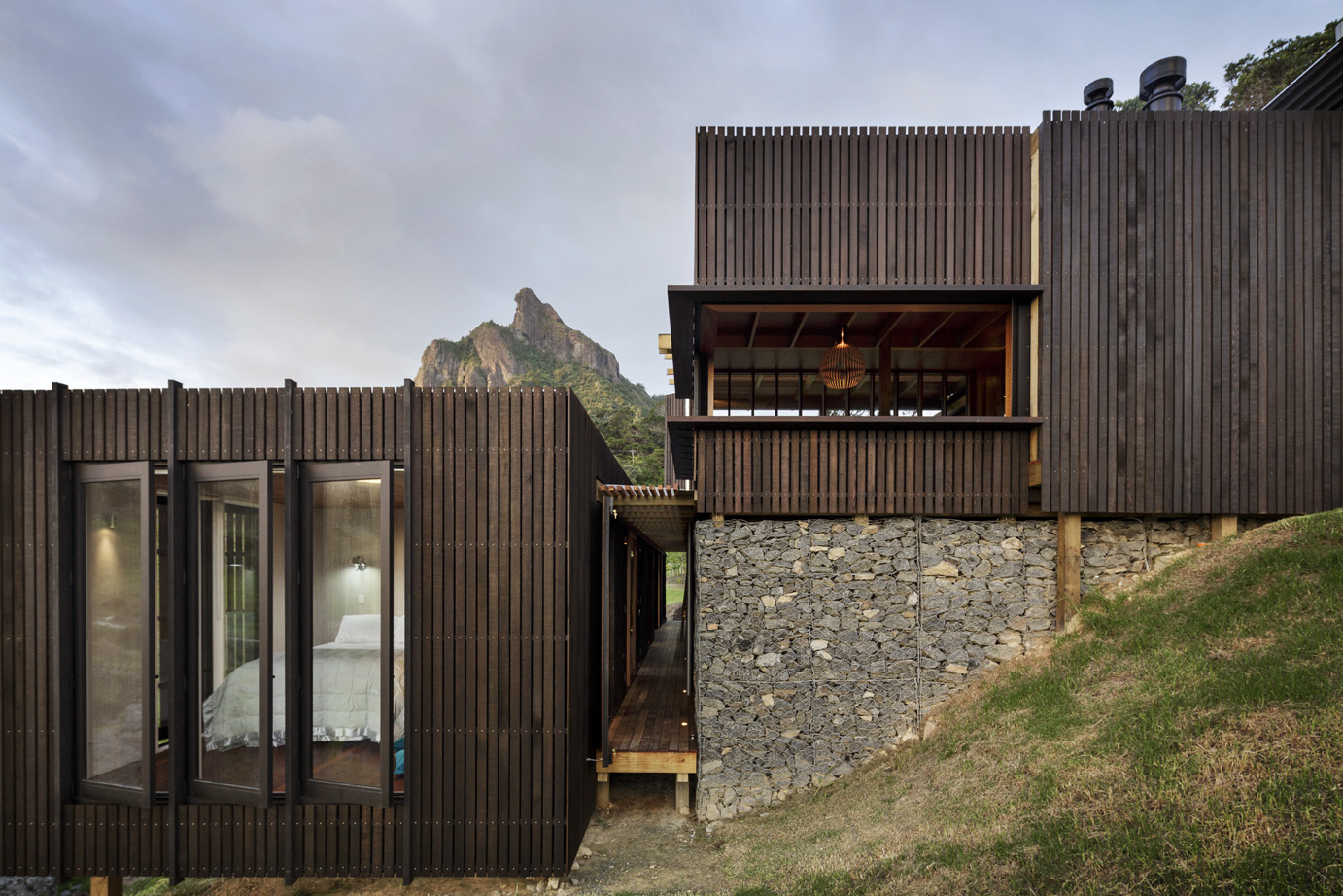 Castle rock house by herbst architects in whangarei new for Castle architecture design