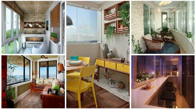 18 Clever Options For Closed Balcony To Enjoy In All Weather Conditions