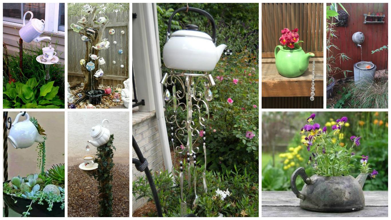 Diy garden decorations - 17 Irresistible Diy Teapot Garden Decorations That You Shouldn T Miss
