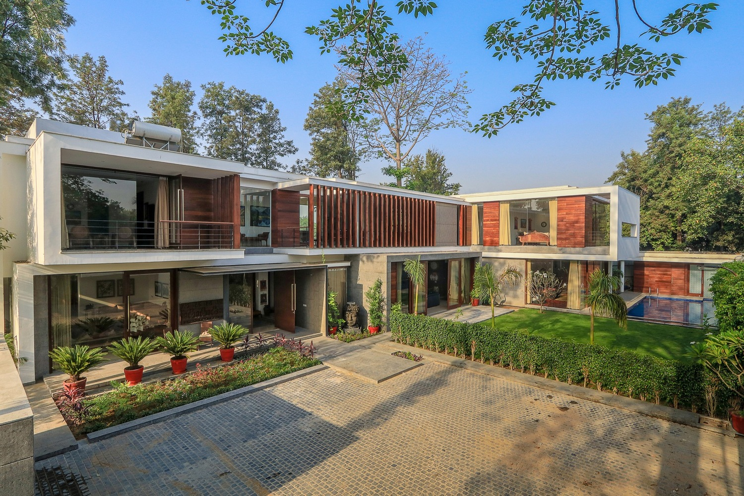 gallery house by dada amp partners in chattarpur india awe inspiring exterior house design front elevation home
