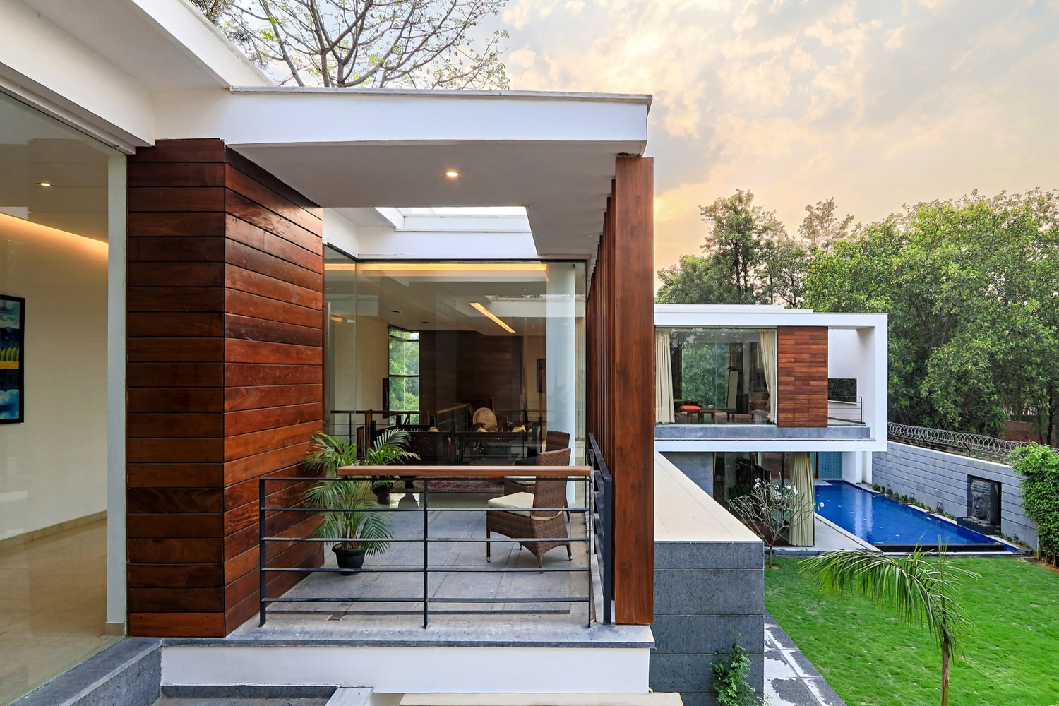 gallery house by dada amp partners in chattarpur india indian modern house designs modern house design in