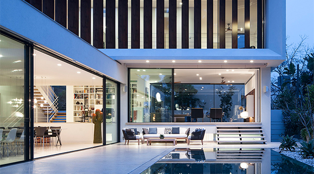 TV House – A Mediterranean Villa by Paz Gersh Architects in Tel Aviv, Israel