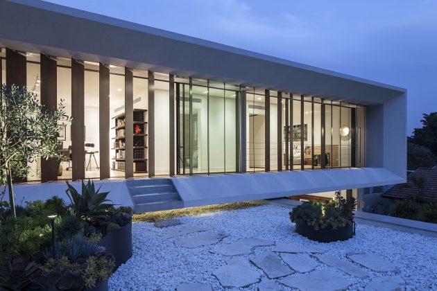 TV House - A Mediterranean Villa by Paz Gersh Architects in Tel Aviv, Israel