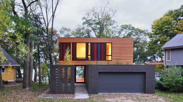 The Redaction House by Johnsen Schmaling Architects in Wisconsin, USA