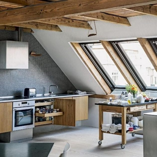 attic kitchen designs 16 functional attic kitchens that will impress you 1384