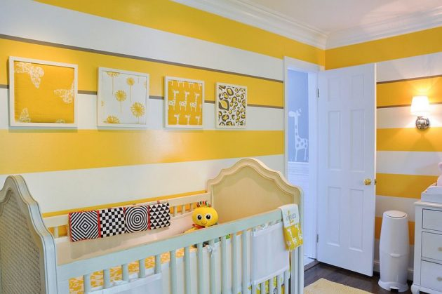 15 Inspirational Examples To Refresh The Kids Room With Yellow Details