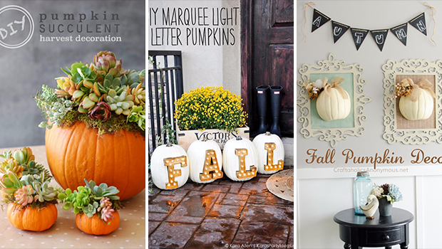 15 amazing diy pumpkin decorations you can make this fall - Fall Pumpkin Decorations
