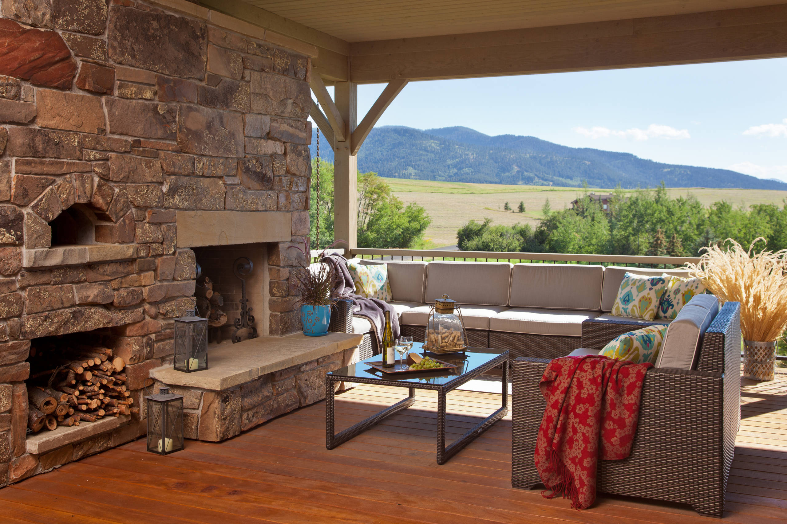 15 Amazing Rustic Deck Designs That Will Enhance Your ... on Garden Patio Decking Ideas id=89033