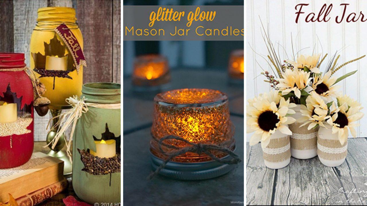 15 Delightful Diy Mason Jar Crafts For The Fall Season