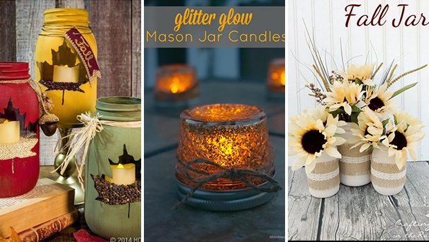 15 Delightful DIY Mason Jar Crafts For The Fall Season