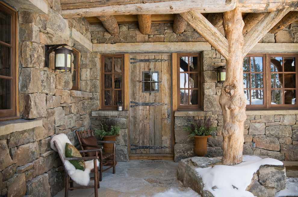 Unusual Cabin Interior Design : Enticing rustic entrance designs that will tempt you to