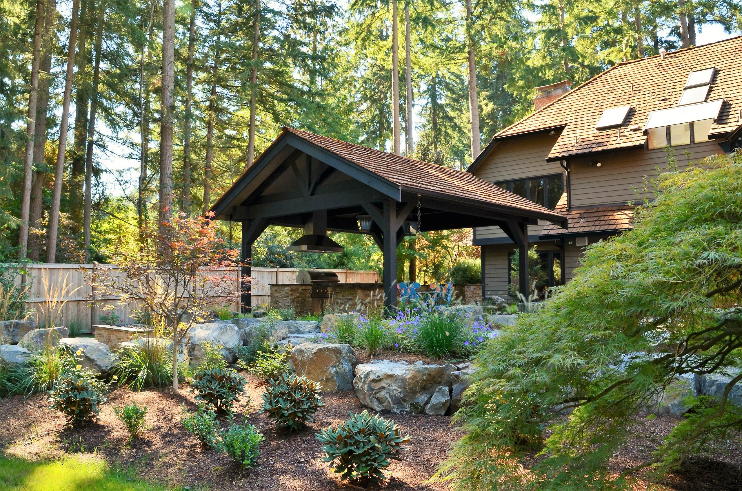 15 Stunning Rustic Landscape Designs That Will Take Your ... on Rustic Backyard Ideas id=96629