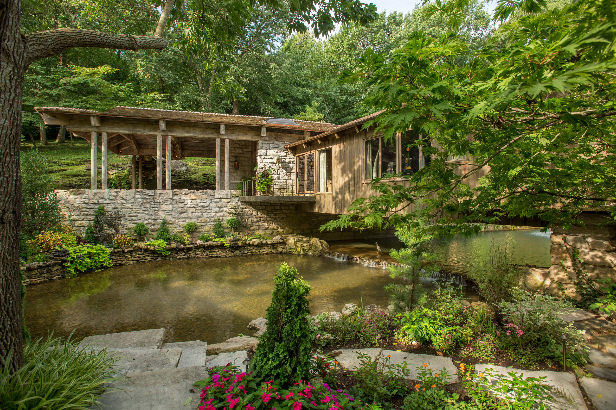 15 Stunning Rustic Landscape Designs That Will Take Your ... on Rustic Backyard Ideas id=32270