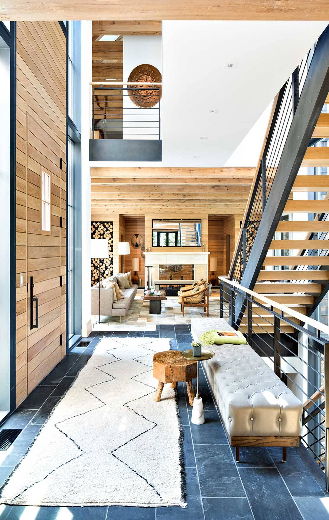 15 Beautiful Modern Foyer Designs That Will Welcome You Home: 15 Welcoming Rustic Entry Hall Designs You're Going To Adore