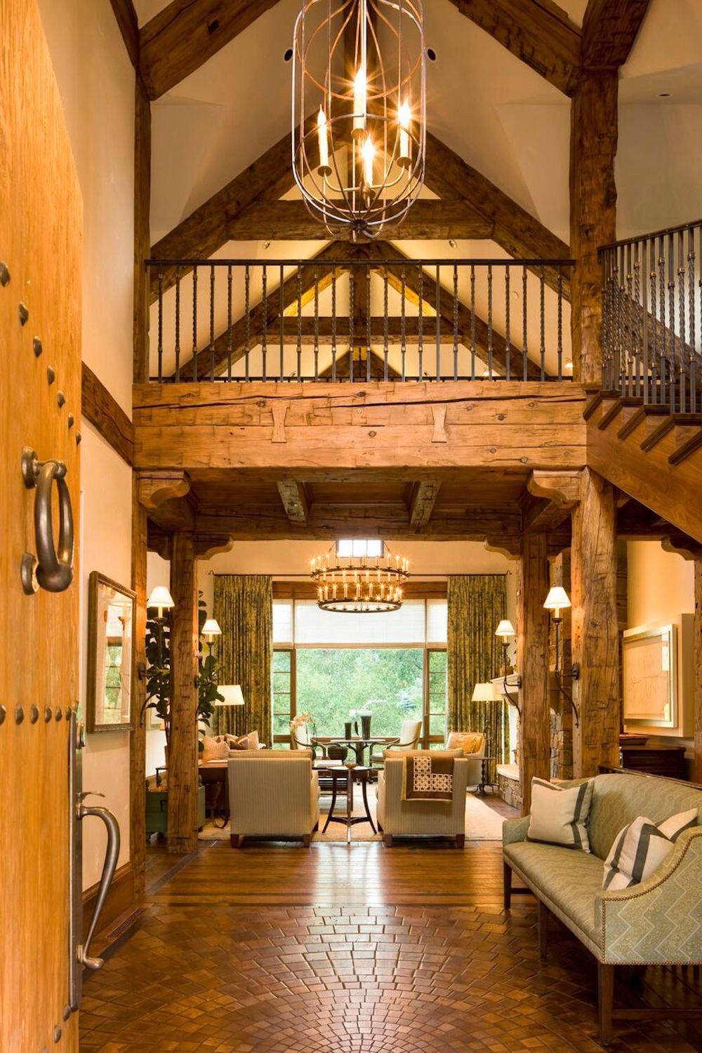 Rustic Living Room: 15 Welcoming Rustic Entry Hall Designs You're Going To Adore