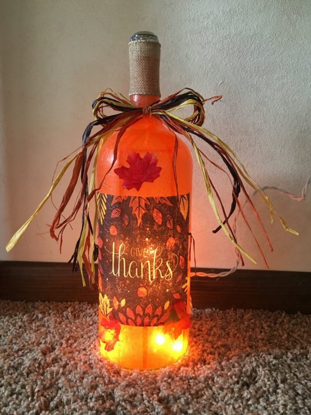 wine bottle decorations handmade 16 beautiful handmade thanksgiving decoration ideas you 2608