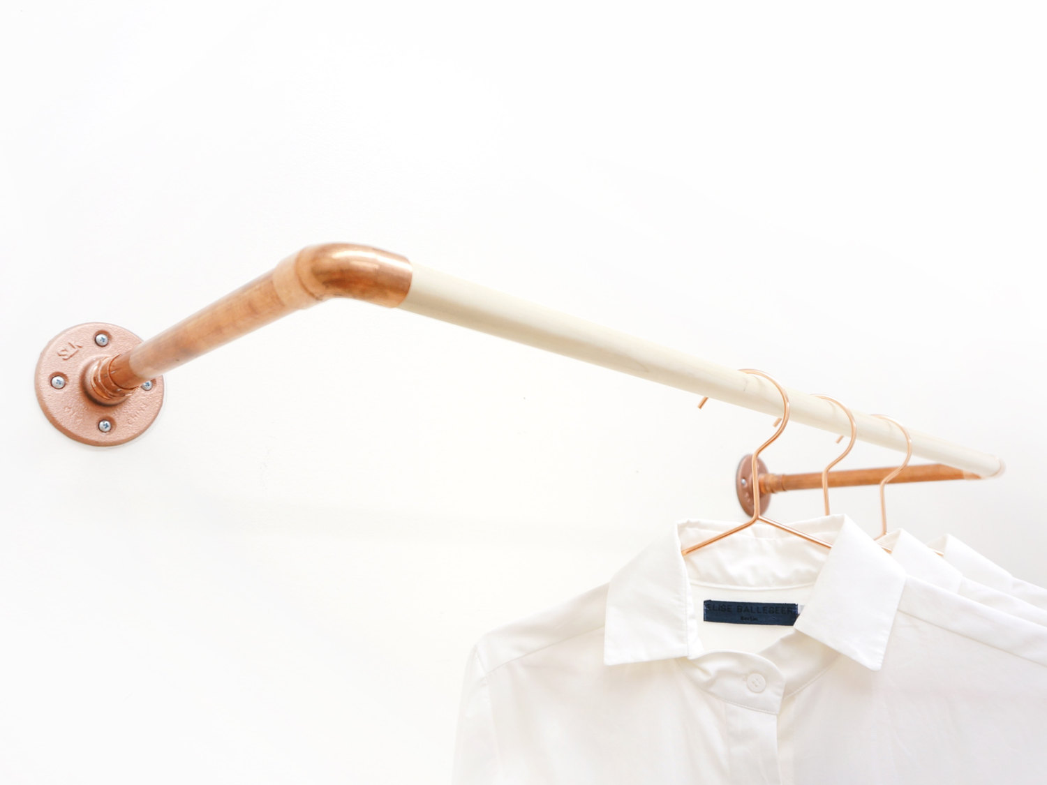 wall mounted clothes rail. Wall Mount Clothing Rack Mounted Clothes Rail