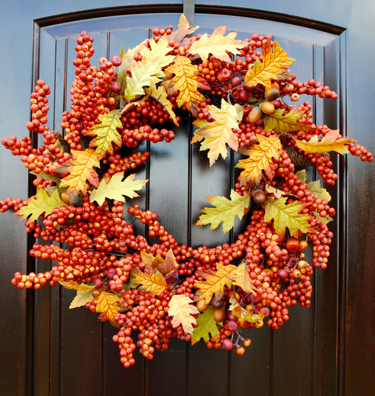 16 Whimsical Handmade Thanksgiving Wreath Designs For Your