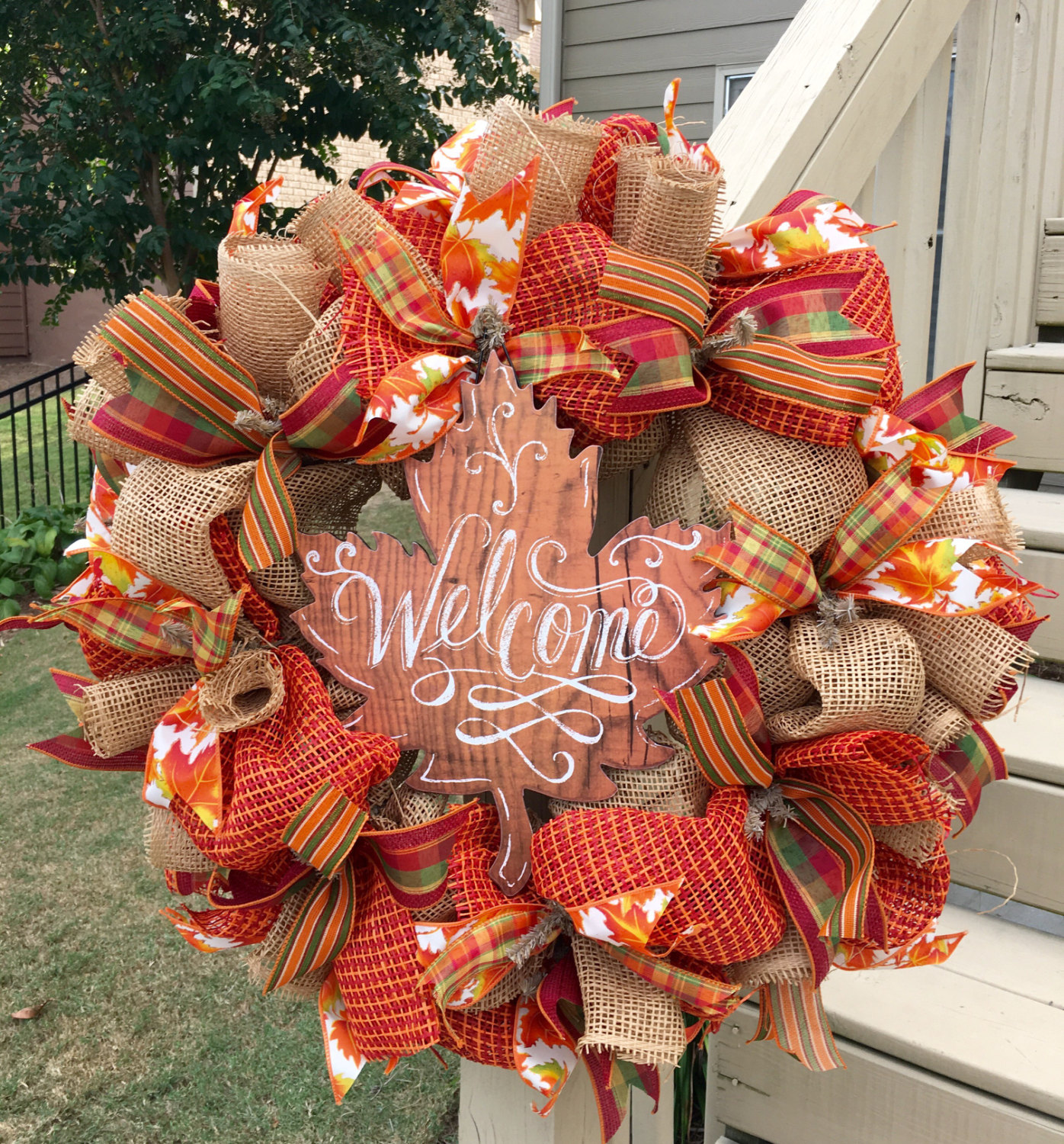 Thanksgiving front door decorations - 16 Whimsical Handmade Thanksgiving Wreath Designs For Your Front Door