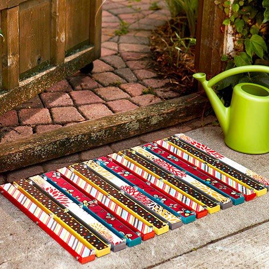 18 Really Amazing Ideas To Make Fascinating DIY Doormat
