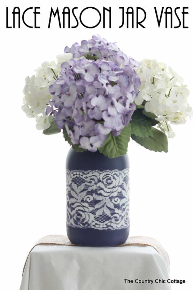 17 Awesome DIY Mason Jar Vase Designs You Can Make In No Time