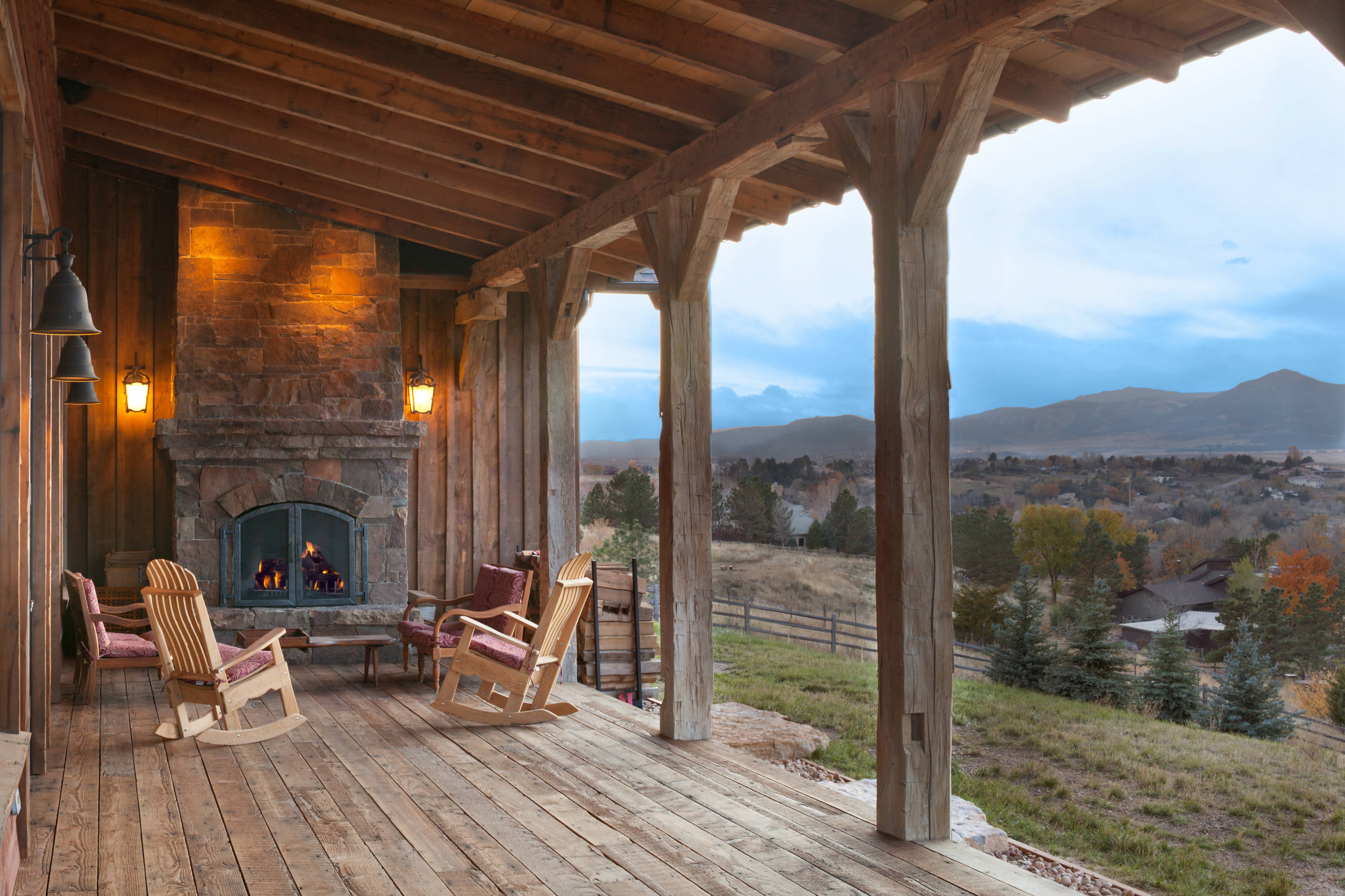 17 Unbelievable Rustic Porch Designs That Will Make Your ... on Back Deck Ideas For Ranch Style Homes id=84974