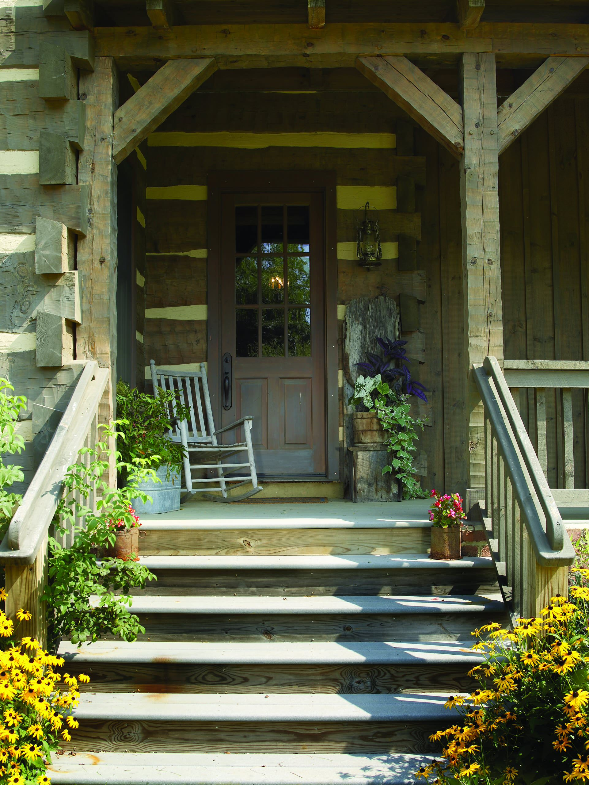 17 unbelievable rustic porch designs that will make your for Rustic front porch