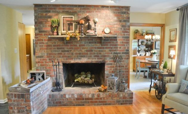 17 astounding brick fireplace designs that you need to see - Red brick fireplace makeover ideas ...