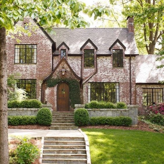 Stone And Painted Brick House Exterior