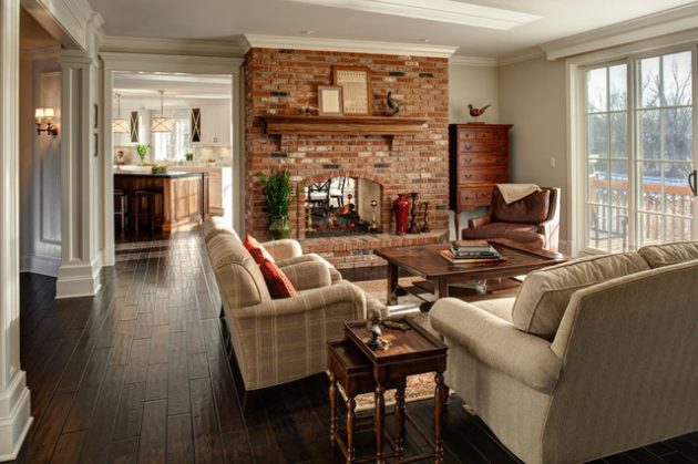 17 Astounding Brick Fireplace Designs That You Need To See