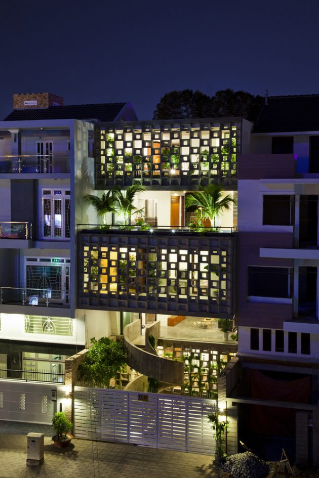 Binh Thanh House by Vo Trong Nghia Architects + NISHIZAWAARCHITECTS in Vietnam