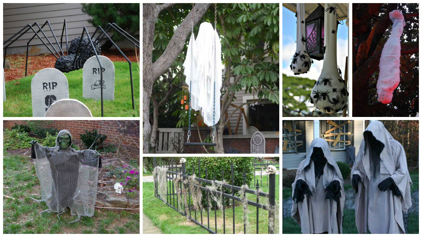 19 super easy diy outdoor halloween decorations that look so creepy spooky - Easy Diy Halloween Decorations Outdoor