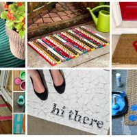 18 Really Amazing Ideas To Make Fascinating DIY Doormat