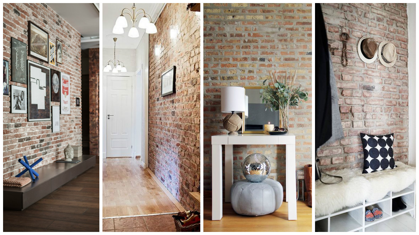 Foyer Hallway Urban Dictionary : Fascinating ideas to style your entryway with brick walls