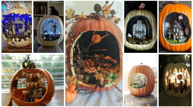 Pumpkin Diorama- New Astonishing Trend To Decorate Your Pumpkins This Fall