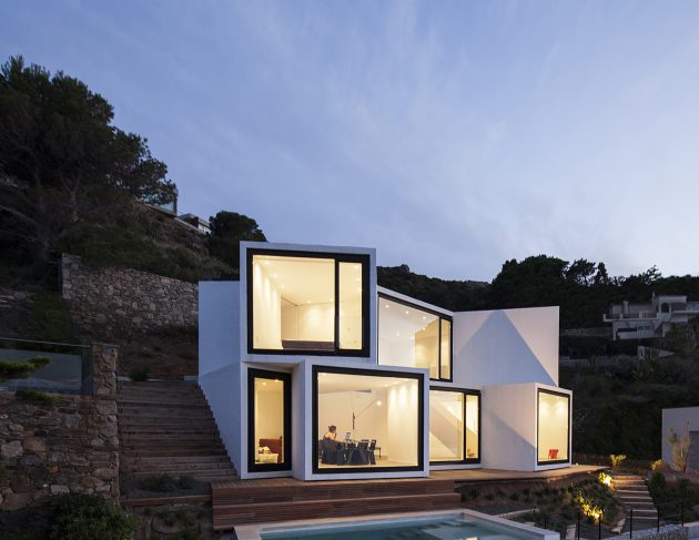Sunflower House by Cadaval & Solà Morales in Girona, Spain