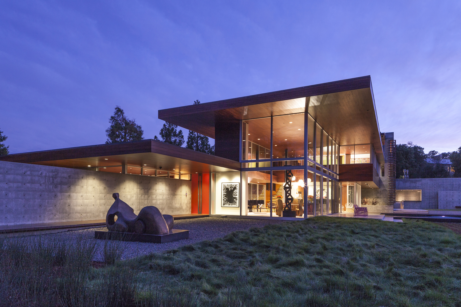 Vidalakis residence by swatt miers architects in portola for Courtyard designs bathurst