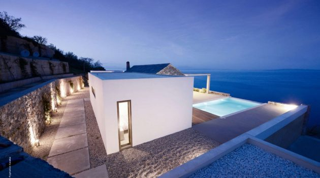 Villa Melana by Studio 2 Pi Architecture in Tyros, Greece