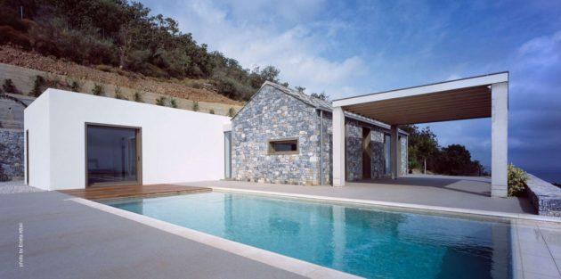Villa Melana by Studio 2 Pi Architecture in Tyros, Greece