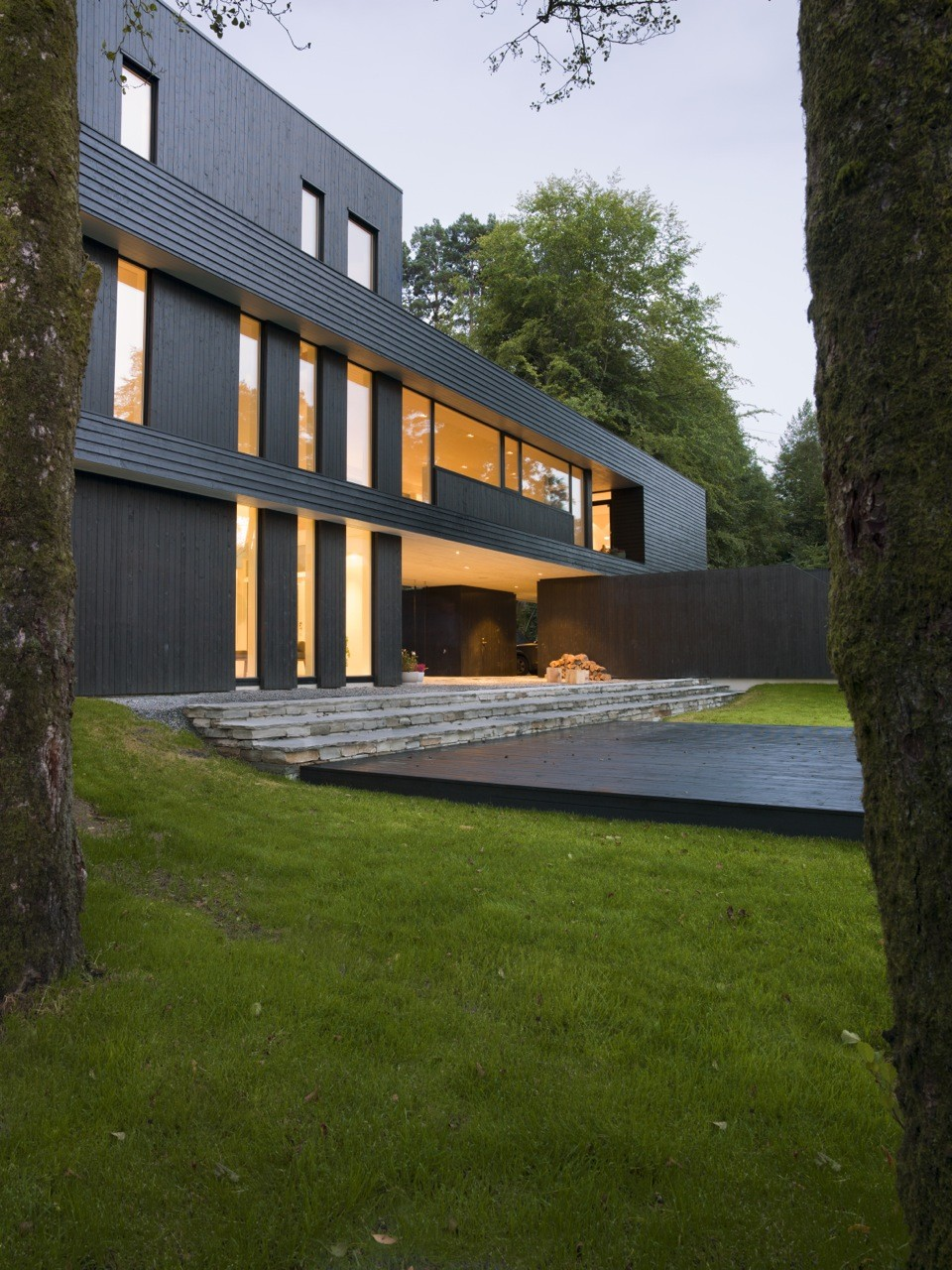 Villa s by saunders architecture in bergen norway for Villa architect