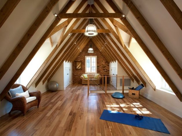 18 Super Functional Ideas For Decorating Comfortable Attic Room