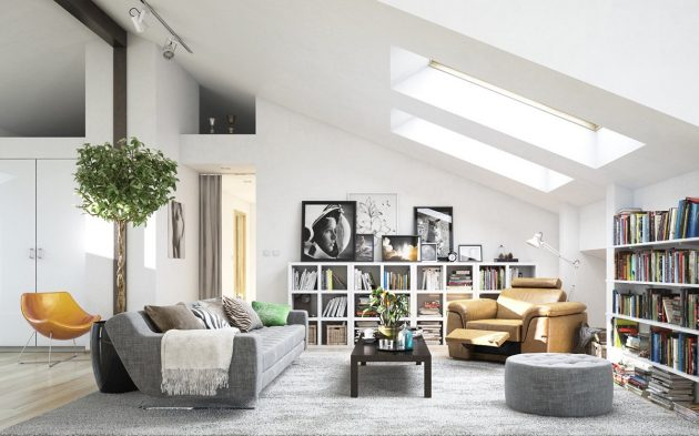 18 Gorgeous Attic Living Room Designs That Everyone Need To See